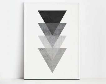 Posters Wall Art Prints Geometric Art - Geometric Prints - Black And White Print - Op Art - Geometric wall art - Geometric Poster -