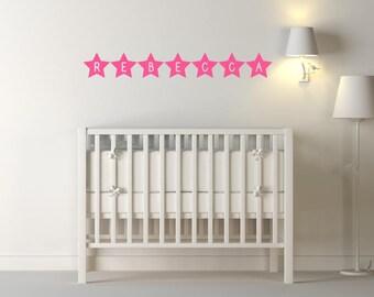 Custom Girls Name Stars Wall Stickers