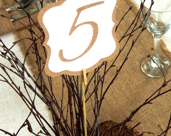 Wedding Table Number Signs, One Side or Double Sided Table Cards, Wedding Table Decor, Table Numbers, Calligraphy Table Number Cards