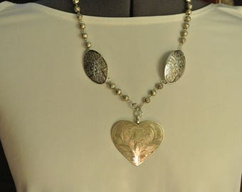 A Silver Heart Necklace