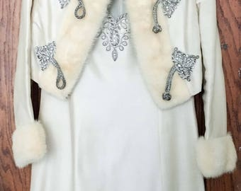 Amazing vintage winter princess gown or wedding dress