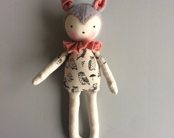 waldorf inspired cat doll