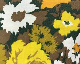 Vintage Cotton 1970s floral remnants - set of two remnants