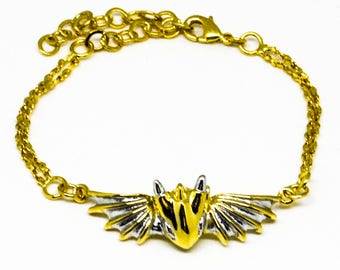 Gold Warrior Dragon Bracelet