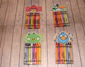 Angry Birds Made To Order Crayon Favor Bags