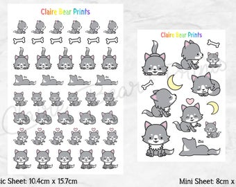 WOLF Planner Stickers (2 options)