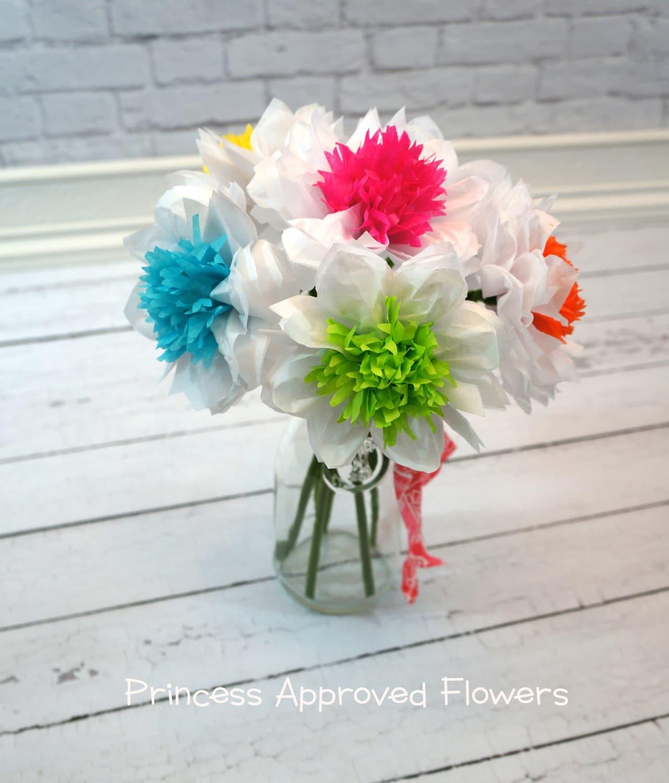 Tissue Paper Flowers Bouquet Of Six