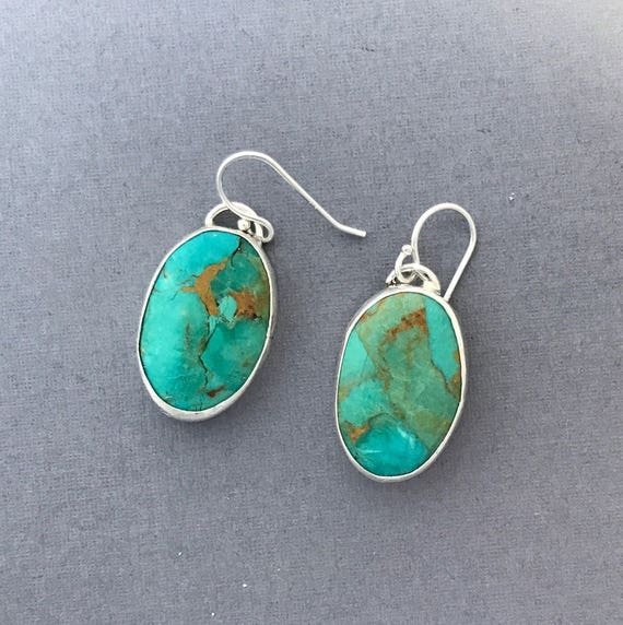 Brecciated turquoise earrings