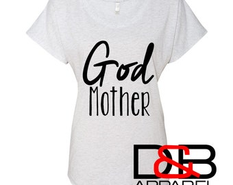 Godmother gift. god mother shirt. will you