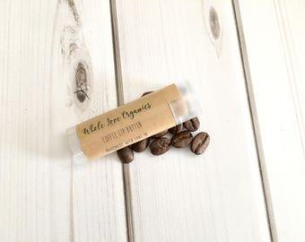 Organic Coffee Lip Balm - Vegan Lip Balm - Lip Butter - Coffee Lip Tint - Coffee Seed Oil - Best Lip Balm - Chapstick