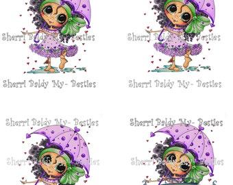 Instant Download Jancoloredprintablebk4 3D Decoupage kit Besties Big Head Dolls Digi By Sherri Baldy