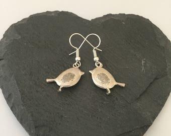 Robin earrings / robin jewellery / bird earrings / bird lover gift / animal earrings / animal jewellery / animal lover gift