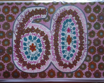 Made to Order Handmade Card - 60th birthday