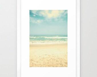 SALE, Beach art, beach prints, beach wall art, beach photography, large art, large wall art, mint green decor, mint decor, ocean art, ocean