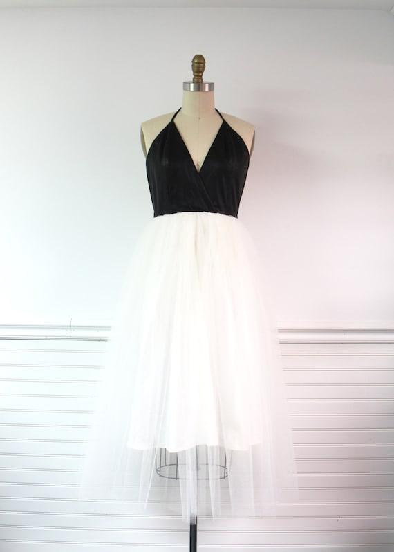 Kunstleder Tüll-Kleid Abendkleid Partykleid Vegan Leder