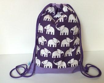 Cinch Bag 'Elephant Walk' purple