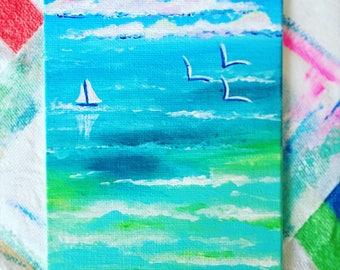 Peaceful blue ocean