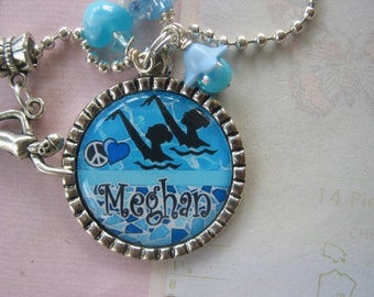 Personalized Synchronized Swimming Pendant, necklace