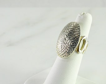 Radiant Cut Large Sterling Statement Ring Size 6