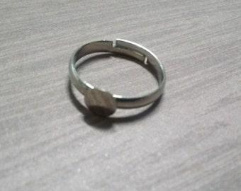 Silver Ring Blanks Adjustable Ring Blanks Ring Settings Silver Blank Rings Wholesale Rings with Pads 100pcs Brass Rings PREORDER