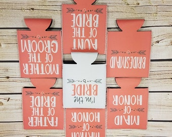 wedding party can coolers / maid of honor/ bridesmaid / bride tribe can cooler / bachelorette party favors