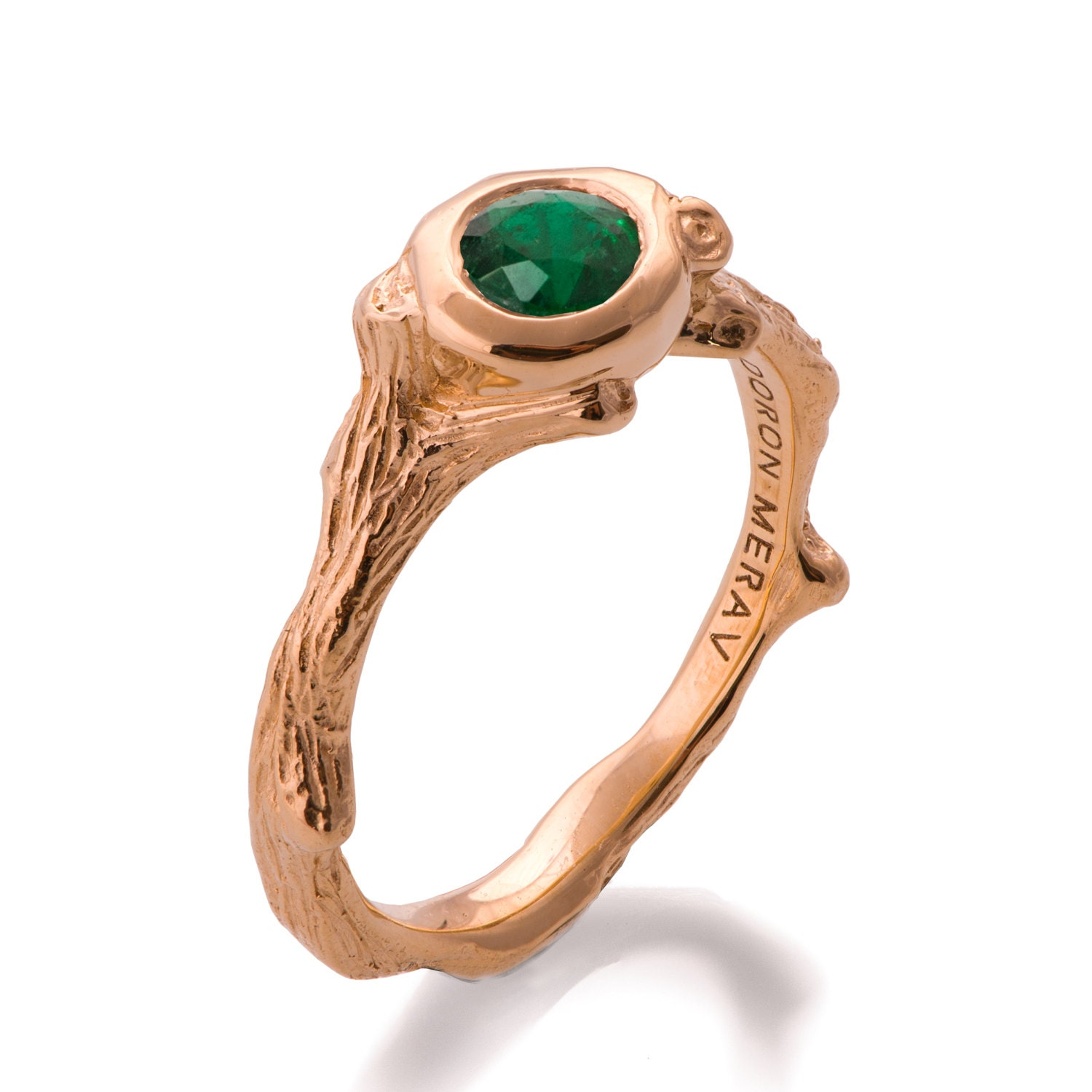 emerald ring catbird and engagement gramo diamond
