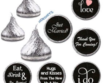 117 Custom stickers, Cute stickers, Hershey kisses personalized labels, Hershey  kiss sticker, Wedding favor stickers, Bridal shower gift