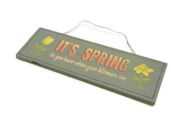 Spring Flowers Sign | Spring Bloomers Sign