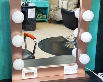 ROSE GOLD 24 x 28, Hollywood Style Lighted Vanity Makeup Mirror