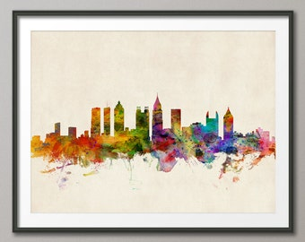 Atlanta Skyline, Atlanta Georgia Cityscape Art Print (589)