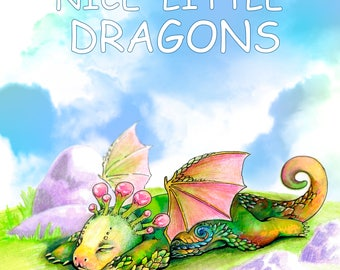 Nice Little Dragons (Adult Coloring Book, Coloring pages PDF, Coloring Pages Printable, For Stress Relieving, For Relaxation)