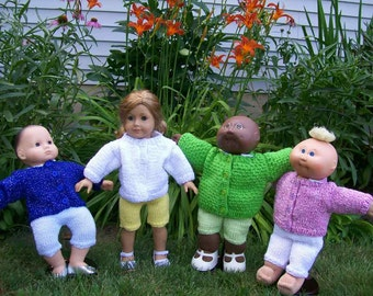 20) Cardigan Sweaters Knit Hand Made Dolls Doll Clothes Toys 15 Inch Dolls 18 Inch Dolls Any Dolls American Girl Dolls Cabbage Patch Dolls