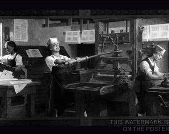 Poster, Many Sizes Available; Benjamin Franklin'S Printing Shop
