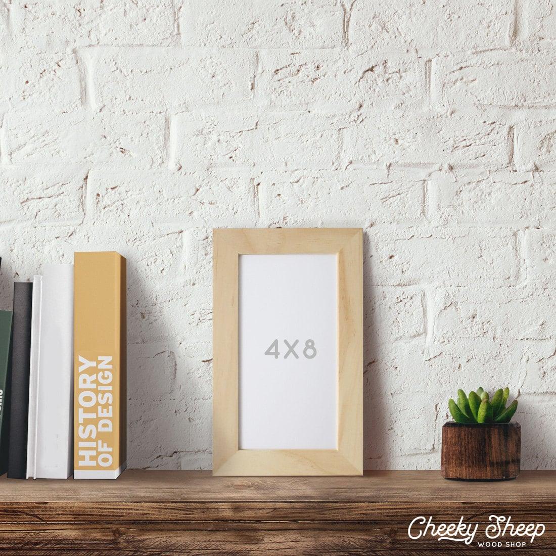 4x8 Picture Frame, Natural Wood frame, Art frames, Craft frame ...