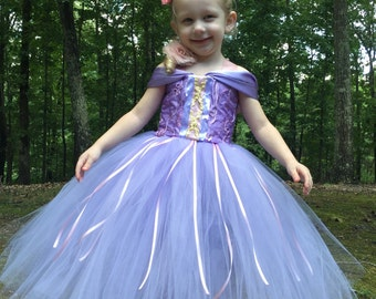 Rapunzel Tutu Dress - Rapunzel Costume - Rapunzel Dress
