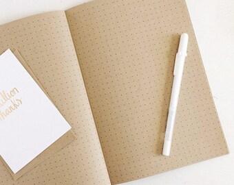 kraft dot grid notebook