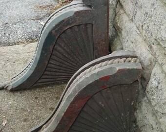 HUGE Antique Corbels