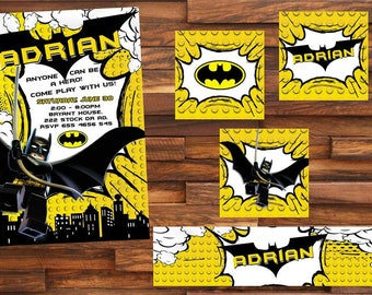 18 batman invitation also  tags label party birthday english or spanish