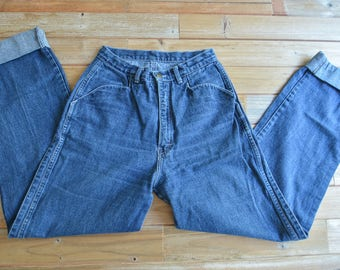 Vintage 70s 80s High Rise Jeans 13 Long by Normandee Rose