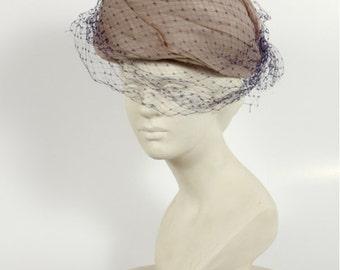 1950s Vintage hat organza fabric
