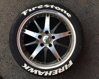 """Firestone Firehawk Tire letters 1.25""""  Set of8 Fits from 13"""" to 24"""" tire"""