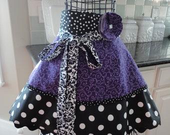 Pretty In Purple ~ Annabelle Style ~  Women's Half Retro Modern Apron ~ 4RetroSisters