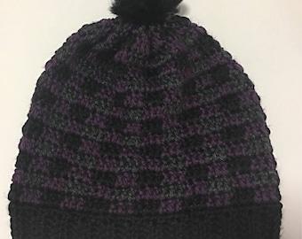 Plaid Slouchy Hat
