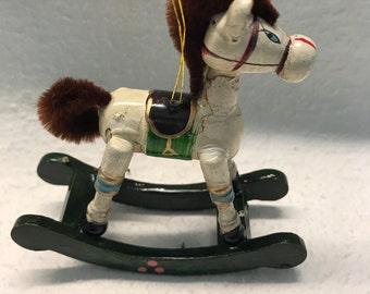 Vintage Christmas Horse Ornament