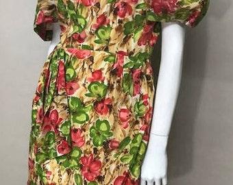 Floral 50's Garden Party Dress