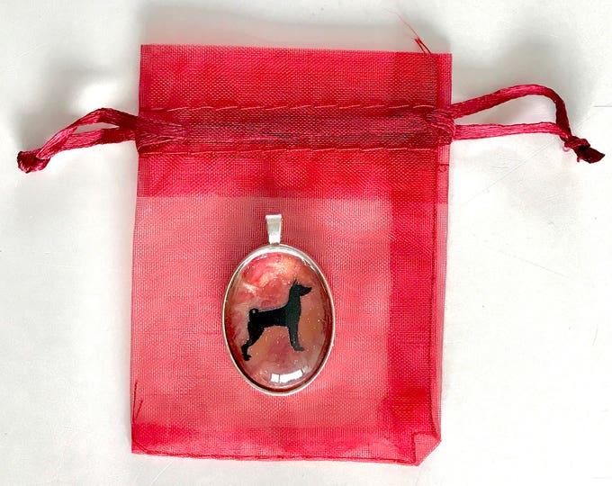 Basenji oval pendant