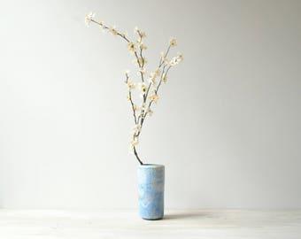 Vintage Blue Studio Pottery Vase, Handmade Vase, Flower Vase, Decorative Vase