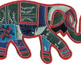 WORK ELEPHANT, Officially Licensed, Iron-On / Sew-On, Embroidered PATCH