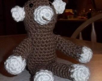 Amigurumi, Amigurumi Affe, Stofftier, Spielzeug, gefüllte Affe, Affe, kleines Spielzeug, Sammlerstücke, Tier