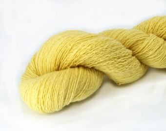 Recycled Yellow Yarn, Lambswool Lemon Yellow Yarn, Recycled Lambswool Yarn, Wool Yarn, Yellow Wool Yarn, Recycled Wool Yarn